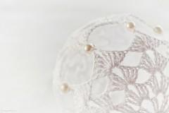 Snow-white (Zsofia Nagy) Tags: ourdailychallenge whitebackground white decoration macro challenge pearl pearls crochet handmade highkey