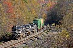 NS 25Z at Cassandra (craigsanders429) Tags: norfolksoutherntrains nsmotivepower nspittsburghline nsstacktrains nsstacktrain intermodaltrains fallfoliage fall fallcolors fallfoliagephotography fallphotography autumn autumncolors autumnphotography autumnfoliage autumncolor norfolksouthern cassandrapennsylvania