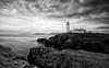 Evening Light (-- Q --) Tags: fanadheadlighthouse letterkenny wildatlanticway atlanticocean atlanticcoast clouds seascape monochrome lee09softgrad lee06softgrad marumidhgcpl ireland codonegal lighthouse atmosphere flickrelite