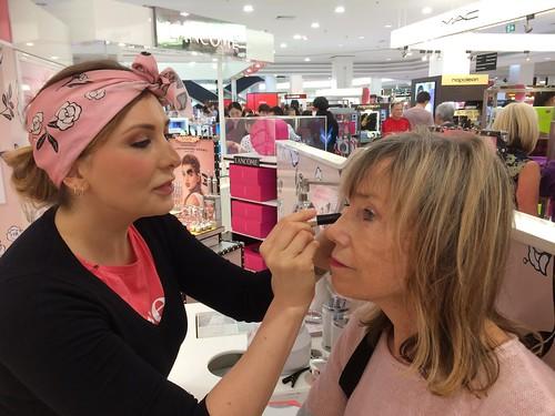 Lucy doing Jenni's eyebrows in Benifit, Perth, WA