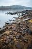 The Rocky Shore Of Mountain Lake (John Kocijanski) Tags: landscape water lake sullivancounty shore shoreline rocks canon5dmkii canon1740mmllens