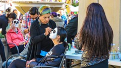 Day of the Dead 2017- Redwood City, CA (jacklouis17) Tags: dayofthedead redwoodcity skeletons facepaint courthousesquare sanmateocounty artists mexican holiday intense