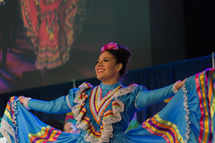 Colorful Fiesta Dancer - Mexico (aaronrhawkins) Tags: fiesta byu brighamyounguniversity provo utah college university student girl woman mexico mexican dress color colorful bright dance twirl spin skirt smile aaronhawkins pretty beautiful celebration party performance perform