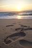Morning Footprints (Rich Renomeron) Tags: olympusmzuiko1442mmf3556ez olympusomdem10 beach bethanybeach dawn morning sunrise