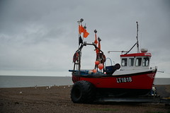 been fishin' - explored (quietpurplehaze07) Tags: aldeburgh boat fishingboat beach sea sky clouds