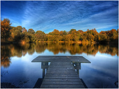 View from the Jetty (andystones64) Tags: sillica pond nature naturephotography reserve scunthorpe outdoors outside afternoon bushes trees clouds sky image imagecapture imageof lincolnshire nlincs northlincs openwater silicapond silica