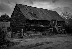 The Barn (Rogpow) Tags: isleofwight barn mono blackandwhite derelict decay abandoned ruin rust old monochrome bnw