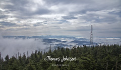 Clingmans Dome View (Thomas  Johnson Photography) Tags: tennessee outside outdoors canon digital 5d markiv 5dmarkiv gorgeous foggy morning tower mountains clingmansdome dome thomasjohnsonphotography ©thomasjohnsonphotography ©2017thomasjohnsonphotography trees pine clouds blue clearing cold windy 2017 stunning hiking unitedstates northcarolina