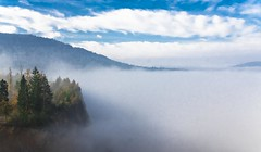 A foggy morning bove the Verd Quarry (rlubej) Tags: notranjska hillsmountains fog forest