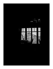 hungryview (seba0815) Tags: ricohgrdiv grdiv grd monochrome bw blackwhite blackandwhite black blanc white nero noir nature restaurant view sky mountain table window chair light dark badreichenhall