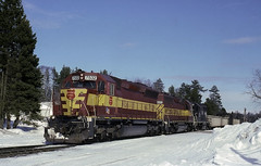 Ore Empties at Trout Lake (ac1756) Tags: wisconsincentral wc wcl canadiannational cnr cn ic illinoiscentral emd sd45 7532 oacti troutlake michigan