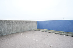 Fort Road (Crusty Streets) Tags: fort road tilbury thurrock essex england uk sea wall seawall estuary river thames blue concrete car park
