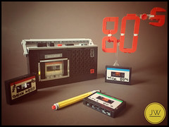 Old Cassette Recorder From Early 80's MK 232 (jarekwally) Tags: nerdvember 2017 nerdvember2017 pencil tommy eighty nerd nerdly grundig unitra mk232 lego moc tape tapes cassette recorder 80s 80 music songs brickie zbudujmyto lugpolpl retro pewex