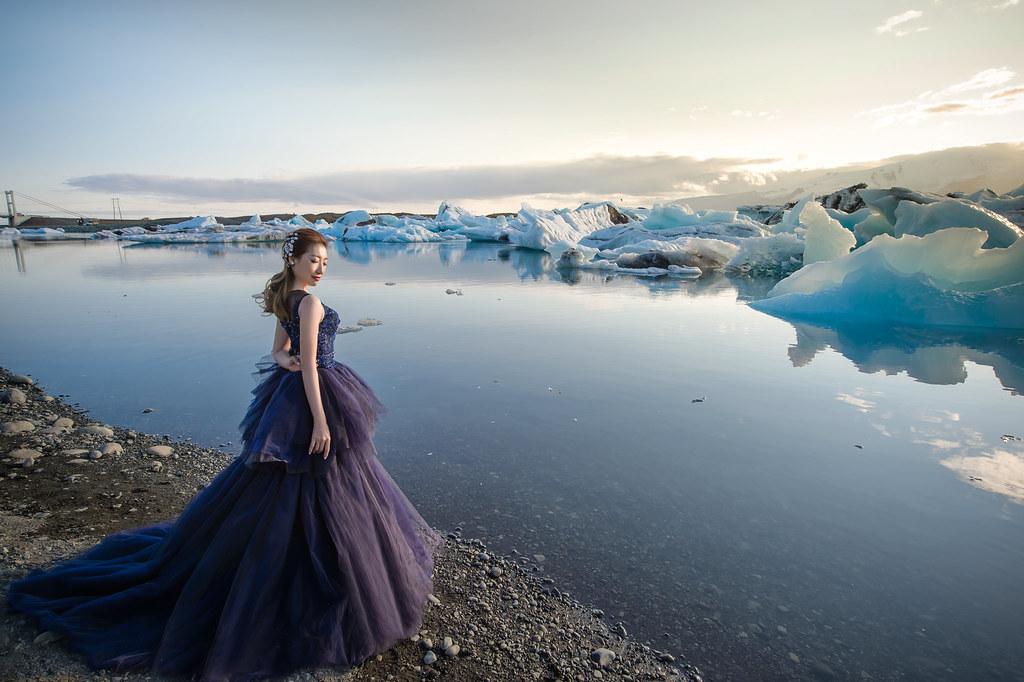 冰島婚紗Jokulsarlon冰河湖婚紗拍攝 禮服: Toris Wedding
