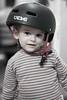 Boy in a cycling helmet (bobobahmat) Tags: people portrait 2013 lviv life lvov ukraine ukrainian uniform boy child children kid son social helmet bike biker sport face family