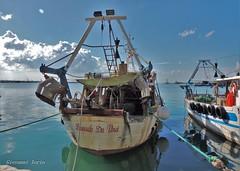 Leonardo Da Vinci (ioriogiovanni10) Tags: coolpix buonaserata goodnight azzurro boot boat barca nave pesca porto gargano puglia mare mer peschereccio nikon