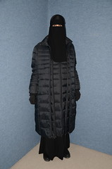 Coats (Warm Clothes Fetish) Tags: slave sweat torture hot warm girl fleece coat boots niqab hijab burka chador