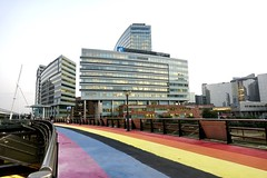 Another day at the office ...... (eric zijn fotoos) Tags: sonyrx10m3 noordholland holland nederland building buildings gebouwen gebouw architectuur architecture kleuren colors office offices kantoor kantoren sloterdijk treinstation trainstation rainbow regenboog
