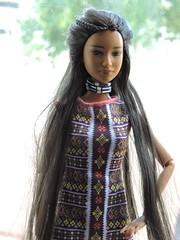 Native Beauty (~EverFashionista216~) Tags: barbie black label toysrus spirit earth dollsoftheworld ravenhair native american made move fashionistas goddessfacemold dolls mattel collector etsy necklace tribal boho jewerly
