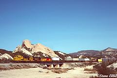 SF 5961 Mormon Rocks 2-1988 (steveellis12) Tags: f45 atsf santafe cajon