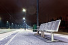 Empty Seats at the Railway Station (k009034) Tags: 500px city winter travel night lights six chair seat town empty pole shadows station railroad rural rail tracks platform railways no people coldness trash bin finland tranquil scene scandinavia copy space oulainen teamcanon