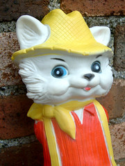 Yokel Kitty (The Moog Image Dump) Tags: cat kitty country yokel toy figure vintage squeaker squeaky combex creations
