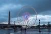 La grande roue (valfoto91) Tags: granderoue paris concorde ciel nuages pluie flaque passants