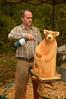 Adding a little hair color (radargeek) Tags: homesteadheritage homesteadfair 2016 waco texas tx bear carving statue torch flame art artist craft