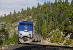 Amtrak at the gap (Patrick Dirden) Tags: amtk183 p42dc ge generalelectric genesislocomotive diesel locomotive engine rail railroad train amtraktrain passengertrain passenger amtrak californiazephyr amtrakcaliforniazephyr uprosevillesub yubagap yubagapca nevadacounty sierranevada sierra sierras northerncalifornia california