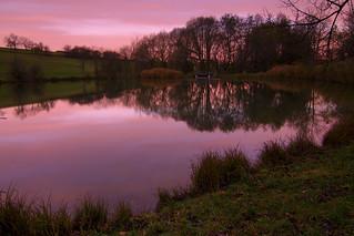 Dawn at Lake Crack Valley