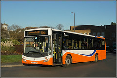Travel de Courcey 574 (Jason 87030) Tags: mcv evolution rugby town orange mercedes benz bus 585 coventry midland traveldecourcey shot sony alpha a6000 ilce nex lens wheels bright light color colour november 2017 winter weather season 574 ae62epk