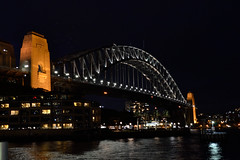 Sydney (Yarra12) Tags: sydney building night water sky boat city river australia architecture bridge lights bright old history