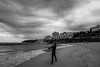 DSC01470 (Damir Govorcin Photography) Tags: surfer blackwhite monochrome sydney bondi beach natural light wide angle sony a7ii zeiss 1635mm clouds