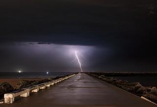 Foudre sur le littoral Belge - Lightning on the Belgian coast - 30/08/2017 - Ostende (Belgium)