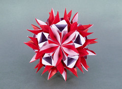 Hessea var. (masha_losk) Tags: kusudama кусудама origamiwork origamiart foliage origami paper paperfolding modularorigami unitorigami модульноеоригами оригами бумага folded symmetry design handmade art