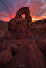 The Knight on Fire (Björn Burton Photography) Tags: knightarch horsearch valleyoffire nevada statepark southernnevada desert sandstone red sunset burn landscape southwest bjornburtonphotography