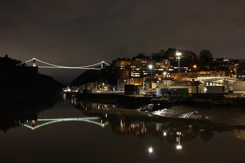 Bristol at night.