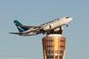 Sunrise departure - WestJetBoeing 737 -GWBJ-5237 (rob-the-org) Tags: exif:focallength=200mm exif:aperture=ƒ80 exif:lens=ef70200mmf28lisiiusm exif:model=canoneos60d camera:make=canon exif:isospeed=100 camera:model=canoneos60d exif:make=canon kphx phx skyharborinternational phoenixaz borrowlensescom westjet boeing 737 cgwbj towercross sunrise f80 200mm 1320sec iso100 cropped noflash kphxphxsky harbor internationalphoenix az topdecember2017