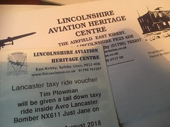 Avro Lancaster taxi ride - Present for me ! 5/12/17 (busmothy) Tags: ticket lancaster flight present
