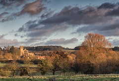 Cley Church From Wiveton. (andybam1955) Tags: autumn norfolk northnorfolk cleychurch evening church landscape