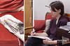 Noémie (Baptiste Jésu) Tags: 5d 2017 drawing dessin caféothèque marathon event evenement contest vernissage art couleurs outils pinceau brush profil paper papier rouge couch