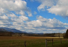 ~ The Clouds Are Rollin' In ....... (~ Cindy~) Tags: clouds mountains valley grassess trees november fences hff