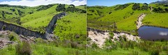 The Wall of Waiau - 1 year later (katepedley) Tags: geology rock fault rupture scarp leader canterburynz canterbury southisland south island new zealand newzealand canon 5d 1740mm polariser before after erosion active eqnz earthquake kaikoura november 2016 1yearon comparison evolution tectonics spring green