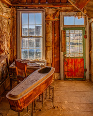 Bodie Morgue Inside Out (Jeffrey Sullivan) Tags: bodie state historic park night photography workshop eastern sierra bridgeport california usa nature landscape canon photo jeff sullivan bridegeport united states copyright 2014 may 25 window hdr photomatix