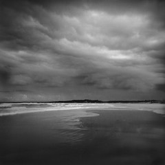 Sussex Inlet (Bill Thoo) Tags: sussexinlet nsw newsouthwales australia travel landscape scenic storm beach ocean monochrome bnw blackandwhite coast nature clouds holga lomography analog lofi film analogfilm filmphotography mediumformat mediumformatfilm