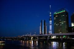 Shift on Sumida (H.H. Mahal Alysheba) Tags: night wide river water tokyo asakusa shitamachi architecture japan nikon d500 sigma 1835mmf18