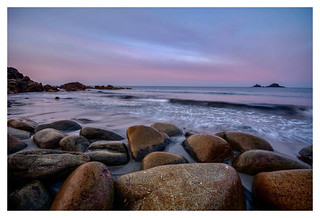 Sunrise at Porth Nanven, Cornwall