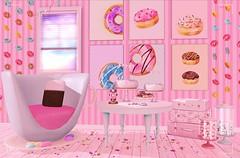 a sweet little corner (:-parfaitsprinkles-:) Tags: donut doughnut pink candy candyfair sweets room interiordecor decoration princess tea emm teabunny cake lovelyalien nomi parfait moonamore thecandyfair sl slife secondlife shopping event ifttt kurimukuma mirubani