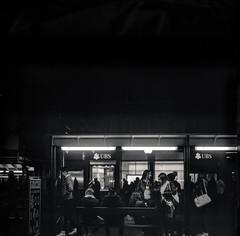 Bus (el.seppo) Tags: streetphotography rolleiflex28e switzerland night basel city street blackandwhite film analog filmisnotdead filmshooters