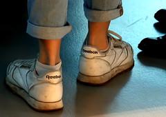 Reebock (Jan Herremans) Tags: reebock feet sneakers shadow light